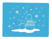 Little Bot Silky Silicone Placemat, Blue, Winter Bear, Silky Soft for Baby, Toddler, and Kids