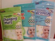 Parents Select Disposable Baby Bibs (6 ct) Changing Mats (3 ct) Placemats (6 ct) 1 Package of Each