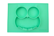 "Silicone Mini Placemat, Owl So Cute 27cm x 20cm x 1"" Baby Feeding Mat Fits Most Highchair Trays"