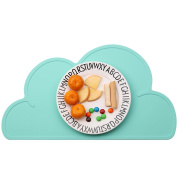 Kids Silicone Cloud Placemat Slip Resistant Baby Infant Plate Table Mat Portable