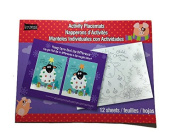 Studio 18 Activity Placemats Christmas Holiday Farm Theme 12 Sheets 21cm x 28cm