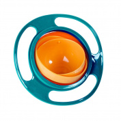 Ztl Baby Gyro Bowl 360 Dgree Rotation Spill Resistant Gyroscopic Bowl with Lid Toy Tableware for Kids Toddlers