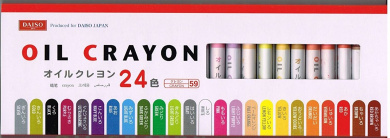 New Drawing Painting Oil Crayon 24 Colours Manga Daiso Japan