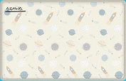 Caraz Fabric Playmat Baby Comfort Soft Mat Living Room Rug Children Mat Easy Clean 1+1 Total 2pcs 1800x1200x16