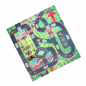 Jili Online Kid Baby Cartoon Play Mat Crawling Carpet Play Blanket Floor Activity Developmental Play Fun Toy Gift Racing Car
