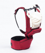 Multi-Functional Baby Stool Breathable Child Holding Baby Shoulder Strap Red