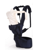Multi-Functional Baby Stool Breathable Child Holding Baby Shoulder Strap Black