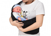 BabyIn Premium 100% Cotton Baby Shoulder Carrier Nursing Baby Shower Gift for New Mums