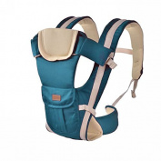 ThreeH Baby Carrier With Breathable Mesh and Pocketss Mix Cotton For Toddlers BC08,Blue