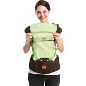 ThreeH Ergonomic Baby Carrier Wrap Breathable Mesh for All Seasons BC02,Green