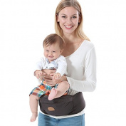 ThreeH Baby HipSeat Belt Infant Toddler Waist Stool Strap Outdoor BC10,Brown