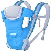 ThreeH Soft Baby Carrier Breathable 3 Carry Positions for Infant & Toddler BC06,Blue