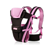 ThreeH Baby Wrap Carrier 3 Positions Soft and Lightweight For Newborns BC07,Pink