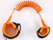 JKLcom Child Anti Lost Strap Baby Child Anti Lost Wrist Link Safety Hook and loop Wrist Link-Blue+Orange