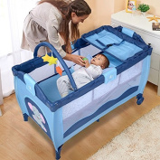 NEW Baby Crib Playpen Playard Pack Travel Infant Bassinet Bed Foldable
