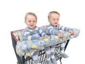Double Shopping Cart Cover for Twins Baby Siblings With Carrying Case. . Wholesale Warehouse Grocery Stores Like Costco Sams Club