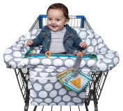 Boppy Luxe Jumbo Dots Shopping Cart and High Chair Cover, Grey