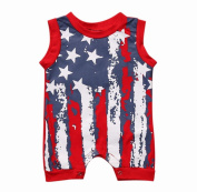 Singleluci Newborn Baby Stars and Stripes Romper Outfit