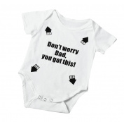 """Singleluci """"Dad You Got This"""" Summer Baby Letter Print Romper Jumpsuit"""