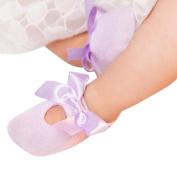 Vovomay Lovely Baby Boy Girl Solid Lace Patchwork Elastic Socks Antiskid Toddler Socks