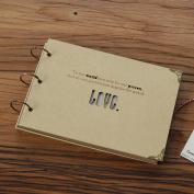 Diy Love Album Manual Paste Cardboard Kraft Paper Scrapbooking Homemade Gift Handmade Baby Photo