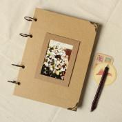 Vintage Kraft Paper Album Handmade Diy Paste Baby Photo Wedding Albums For Lover Scrapbooking Craft