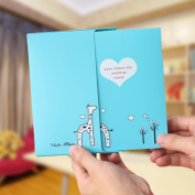 Blue Photo Album Diy Kits Baby Creative Family Newborn Gifts Lovers Memory Picture Albums 40 Photos