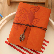 Orange Vintage Antique Kraft Paper Photo Albums 30 Sheets Suitable For birthday,wedding,opening Ceremony,business Gifts Leaves Home Decor Young Commemorate