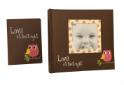 """Pink Baby Owl """"Love at First Sight"""" Photo Albums Gift Bundle"""