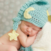 Tueenhuge Newborn Baby Crochet Photo Prop Toddler Moon Star Hat Cap Infant Earflap Hat Sleepy Hat