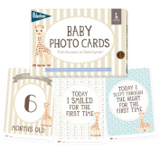 Milestone - Baby Photo Cards Sophie la girafe - Set of 24 Photo Cards to Capture Your Baby's First Year in Weeks, Months, and Memorable Moments