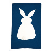MOONHOUSE Lovely Kids Rabbit Knitting Blanket Bedding Play Blanket Quilt