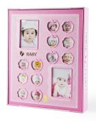 FaCraft Baby Girls Photo Album Holds 200 10cm x 15cm and 20 15cm x 20cm Photos Cute Baby Journals Album with Gift Storage Box
