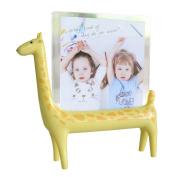 Free Standing Giraffe Photo Frame Holder for Safari Jungle Zoo Theme Nursery Décor