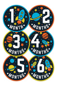 Wholesale Princess Space Theme Baby Monthly Stickers - Set of 12