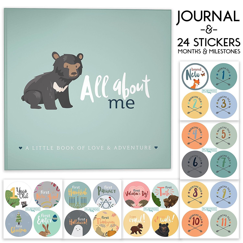 First Year Baby Memory Journal Book Bonus Monthly Milestone