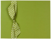 Tessera Baby Books Memory Book with Polka Dot Grosgrain Ribbon, Kiwi Green