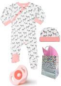 100% Organic Zebra Baby Shower Gift Set--3 Item Bundle