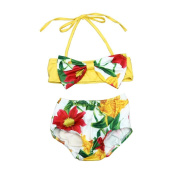 Girls Clothes Odeer 2017 Infant Baby Girl Floral Swimsuit Swimwear Bathing Suit Bikini Set Clothes Outfit