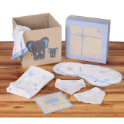 Baby Shower Gift Set for Boys by Baby Zane, Unique Muslin Cotton New Baby Essentials, Adorable Storage Basket, Arrives in Beautiful Box Ready to Give