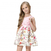 Girls Clothes Odeer 2017 Kids Girl Floral Bow Princess Fashion Dress Evening O-Neck Clothes Party Dress Outfits Cotton