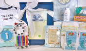 Baby Boy Gift Box Basket - 18 Items for the New Bundle of Joy - Send Congratulations to the New Parents!