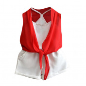 Girls Clothes Odeer 2017 3PCS Toddler Kids Baby Girls Summer Outfit O-Neck Clothes Vest+Cardigan+Short Pants Set
