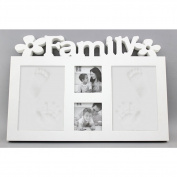 Unilove Babyprint Photo Frame Baby Handprint Kit Clay Footprint Kit Ornament Baby Prints Keepsake