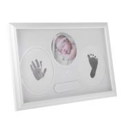 MonkeyJack Newborn Baby Photo Frame Memory Baby Feet Hands Footprint Print Inkpad Casting Kit Christening Birthday Present