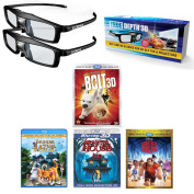 True Depth 3D Glasses and Movie Mega Animated Pack! Everything you need for a 3D Movie on your DLP link 3D Projector!