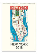 Cavallini Papers New York 2018 Wall Calendar