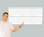 Wet Erase - Extra Large 6 Month Wall Calendar - Laminated Horizontal Planner