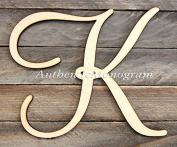 Wooden SINGLE LETTER UNPAINTED Monogram, Vine Script, Home Decor, Anniversary Decor, Initial Monogram, Door Hanger, Guarden, Wall Hanging