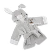 Baby Aspen Best Bunnies Hooded Spa Robe, Grey/White